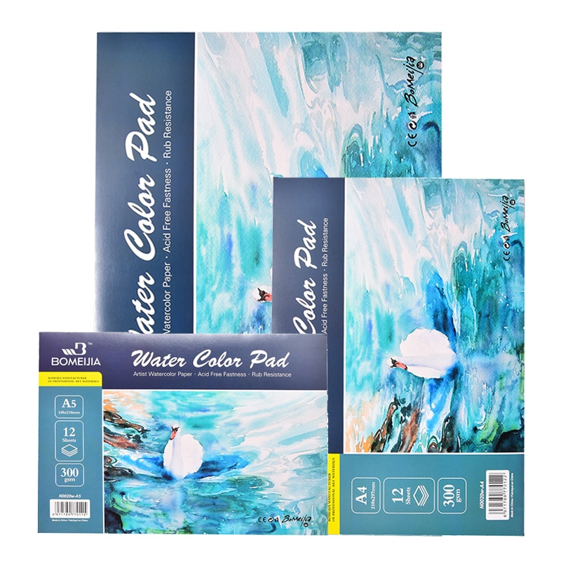 100% Cotton Watercolor Sketchbook 300g/m2 Water Color Drawing Paper Book Student Transfer Paper Papel Para Acuarela Art Supplies
