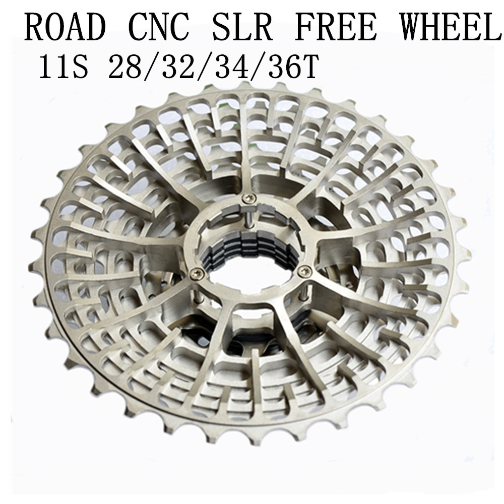 Envío gratis de Cassette de carreras SLR 11 s 11-28T, bicicleta de grava de 11 velocidades 11-36T 11-34T, ultraliviana K7 11V 11-32T CNC Flywheel