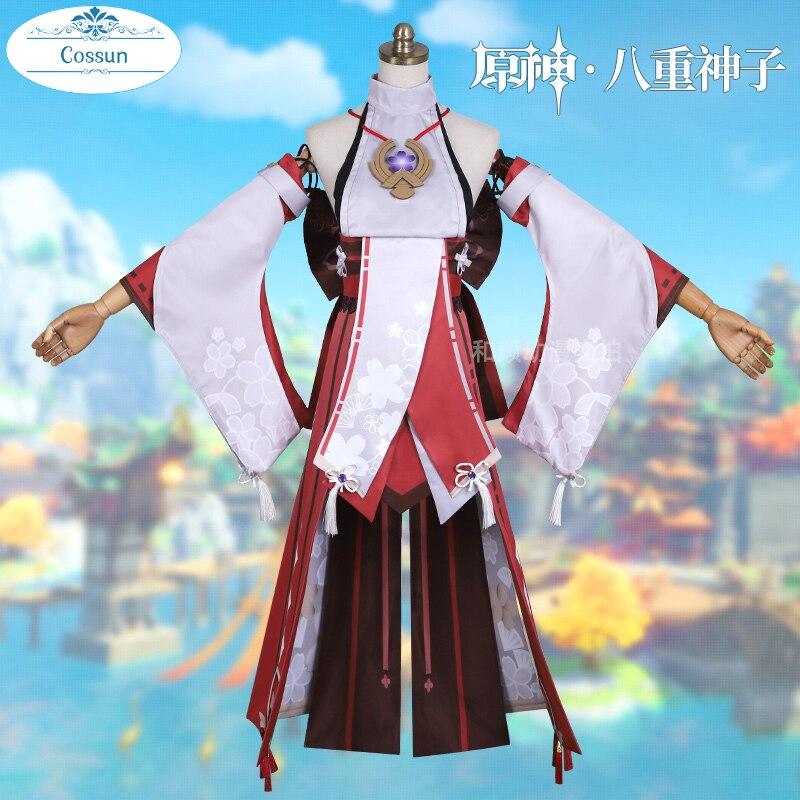 أنيمي! بدلة ألعاب من Genshin جاكيت ياي بتصميم رائع كيمونو رائع زي تنكري للهالوين زي كرنفال للنساء جديد 2021