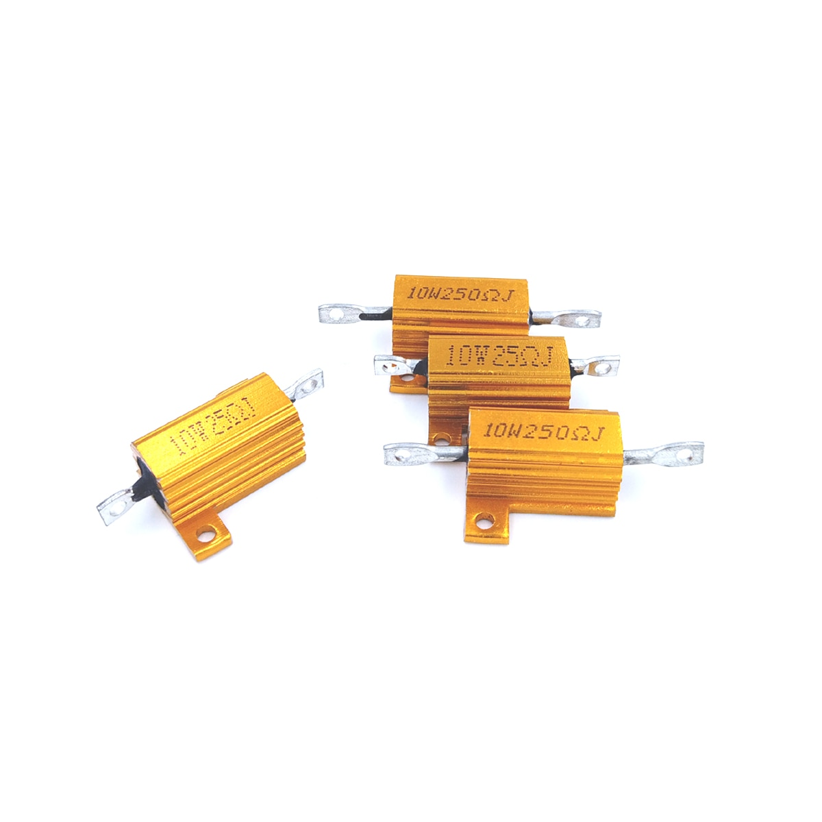 5 pçs 0.5r 0.5 0.5ohm 0.8r 0.8 0.8ohm r ohm 10w watt tom de ouro wirewound alumínio potência metal escudo caso resistência resistor rx24