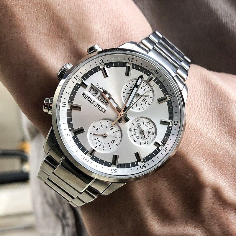 ريف النمر/RT 2021 أفضل العلامة التجارية التلقائي الصلب تاريخ ساعة الرجال ساعة عادية مقاوم للماء Relogio Masculino RGA1659