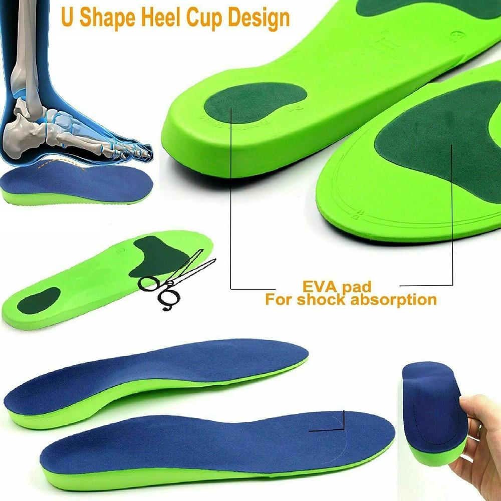 Homem mulher palmilhas de espuma de memória unissex macio respirável palmilhas ortopédicas para pés desodorante correndo coxim palmilhas para sapatos q30