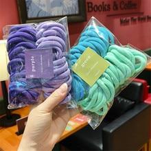 50/Set Women Girls 4CM 2CM Colorful Nylon Elastic Hair Bands Ponytail Holder Rubber Bands Scrunchie