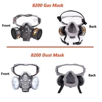 gas mask with safety glasse spray paint chemical pesticide decoration anti dust with filter respirator full face masks