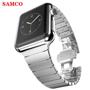 Strap For Apple watch band 44 mm/42mm 40mm 38mm Luxury Link iwatch bracelet apple watch series 5 4 3 2 band 44mm 40 42 38