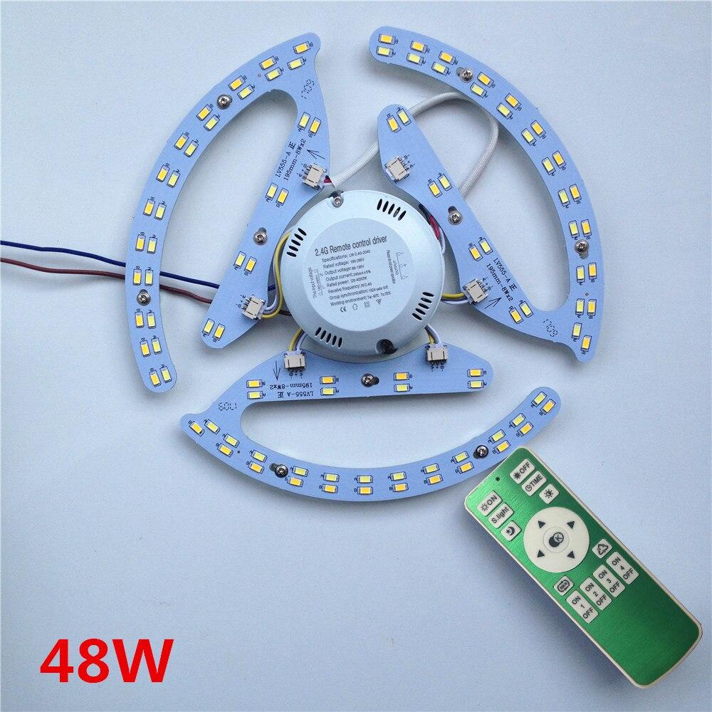 Neue 48W 64W 80W AC180-265V runde Magnetic Led-deckenleuchte LED Board Panel Rundrohr Lichter Mit 2,4g Fernbedienung Speicher