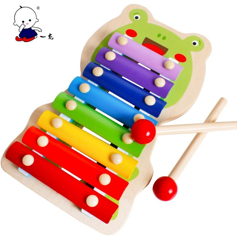Fisher-Price juguetes educativos clásicos para niños, juguete educativo para la primera infancia para golpear a mano a los niños, iluminación musical, dibujos animados de madera ocho