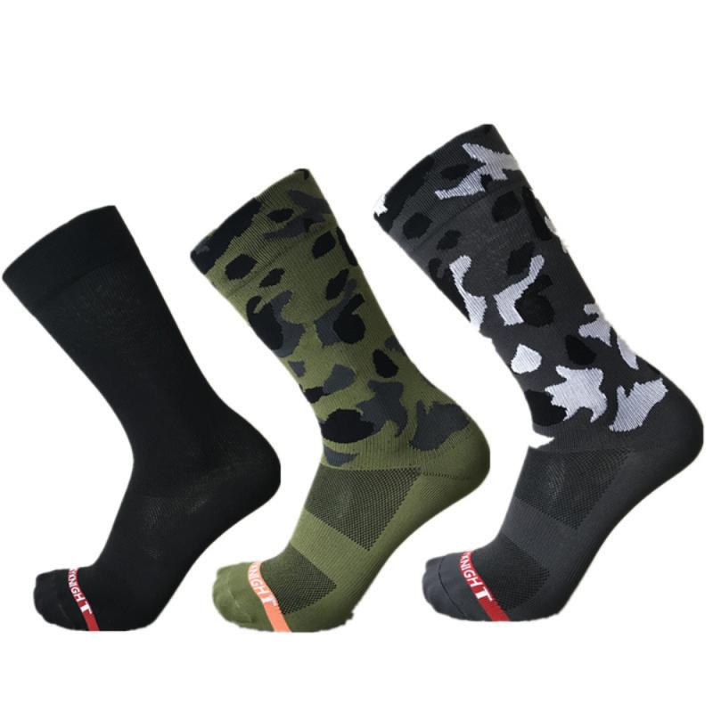 SKY KNIGHT New Olive Green Camouflage Professional Outdoor Riding/Cycling Socks Unisex Sports Bike Socks Cycling Leg Protection