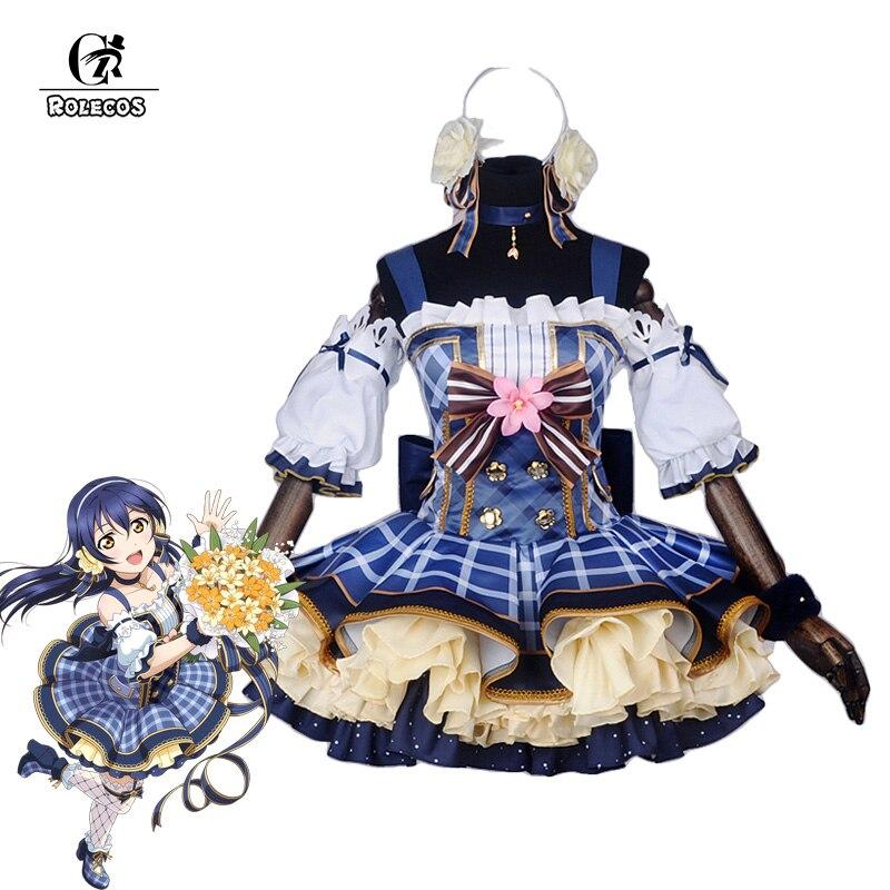 ROLECOS Japanese Anime Love Live Cosplay Costumes Flower Bouquet Arousa Kousaka Honoka Minami Kotori Ayase Eli Cosplay Costume