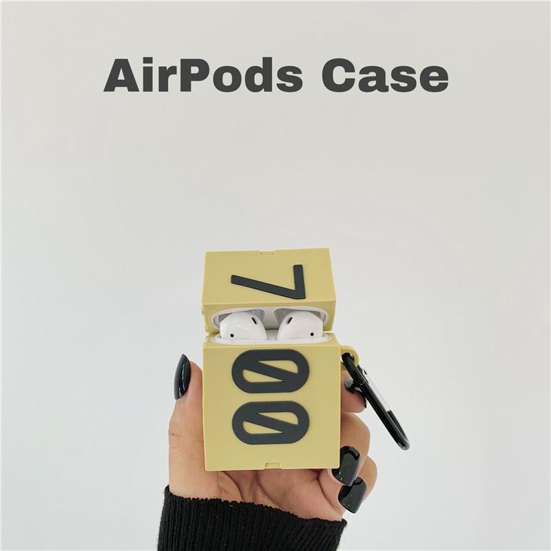 3d silicone caso boost 700 caixa de sapato para airpods 1 2 bonito caso para apple sem fio bluetooth fone ouvido capa chaveiro