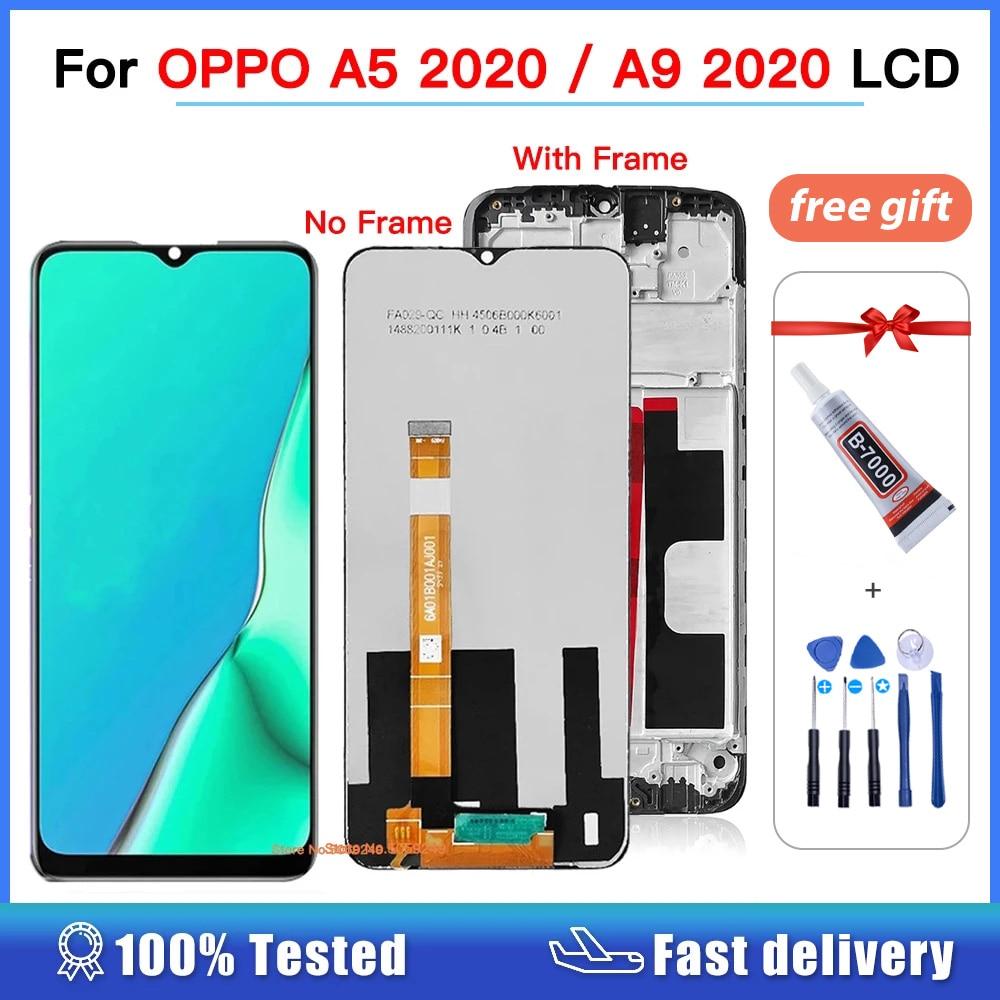 شاشة LCD 6.5 بوصة لـ Oppo A11x / A9 2020 CPH1937 CPH1939 تجميع شاشة لمس لـ OPPO A5 2020 شاشة lcd مع إطار CPH1931