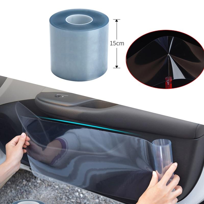 Car Rhino Skin Protective Film 15cmx100cm Car Bumper Hood Paint Protection Sticker Anti Scratch Clea