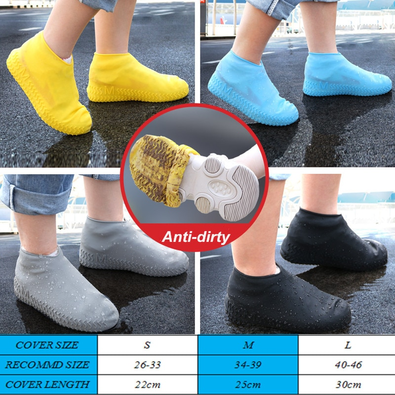 Best Boots Water Proof Shoe Cover Silicone Material Unisex Shoes Protectors Rain Boots For Indoor Ou