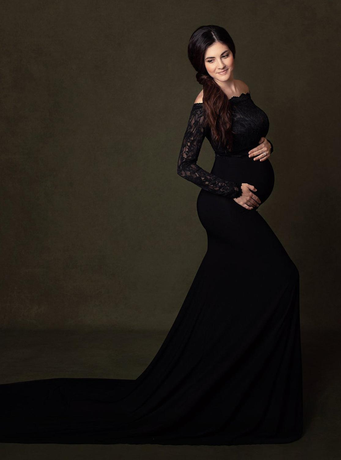 Pregnancy Dress for Photo Shoot Maternity Photography Props Sexy Lace Maxi Gown Dress Plus Size Pregnant Women Clothes enlarge