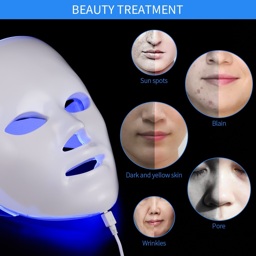 3 colors led photon therapy machine skin rejuvenation light therapy anti wrinkle acne removal beauty face care tool Minimalism Design 7 Colors LED Facial Mask Photon Therapy Anti-Acne Wrinkle Removal Skin Rejuvenation Face Skin Care Tools