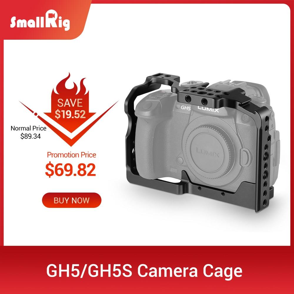 Cage pour appareil photo DSLR gh5 pour Panasonic gh5 / Lumix gh5s avec support de chaussure froide 1/4 3/8 trous de filetage et Rail otan 2049