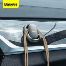 Baseus 2 قطعة مقاطع السيارات السيارات السحابة مركبة السنانير المنظم العالمي اكسسوارات السيارات ملصقا حامل شماعات مقاطع معدنية للسيارة مشابك ومثبتات السيارات    -