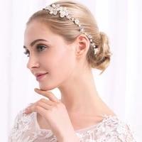 bridal wedding accessories headdress headband new european american and korean creative handmade pearl peadband