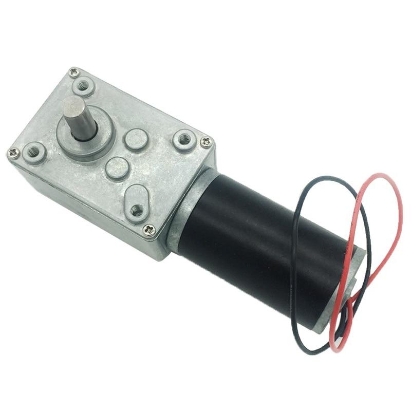 مخفض التروس الدودية 24 فولت تيار مستمر ، محرك قوي ، عزم دوران مرتفع ، علبة تروس عكسية ، روبوت باب