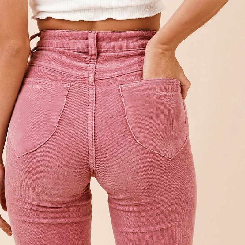 Streetwear Sweatpants Korean Harajuku Flare Pants Casual Button Fly Vintage Women Plus Size Womens Clothing