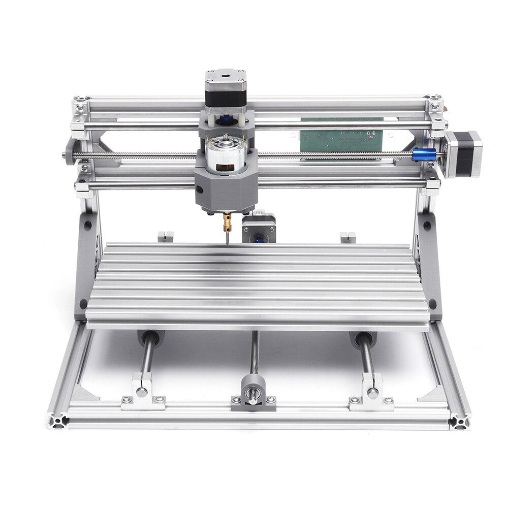 تيار مستمر 3018 مصغر لتقوم بها بنفسك جهاز التوجيه باستخدام الحاسب الآلي 3 محور القياسية المغزل المحرك الخشب آلة الحفر مجموعة كاملة طحن حفارة ال...