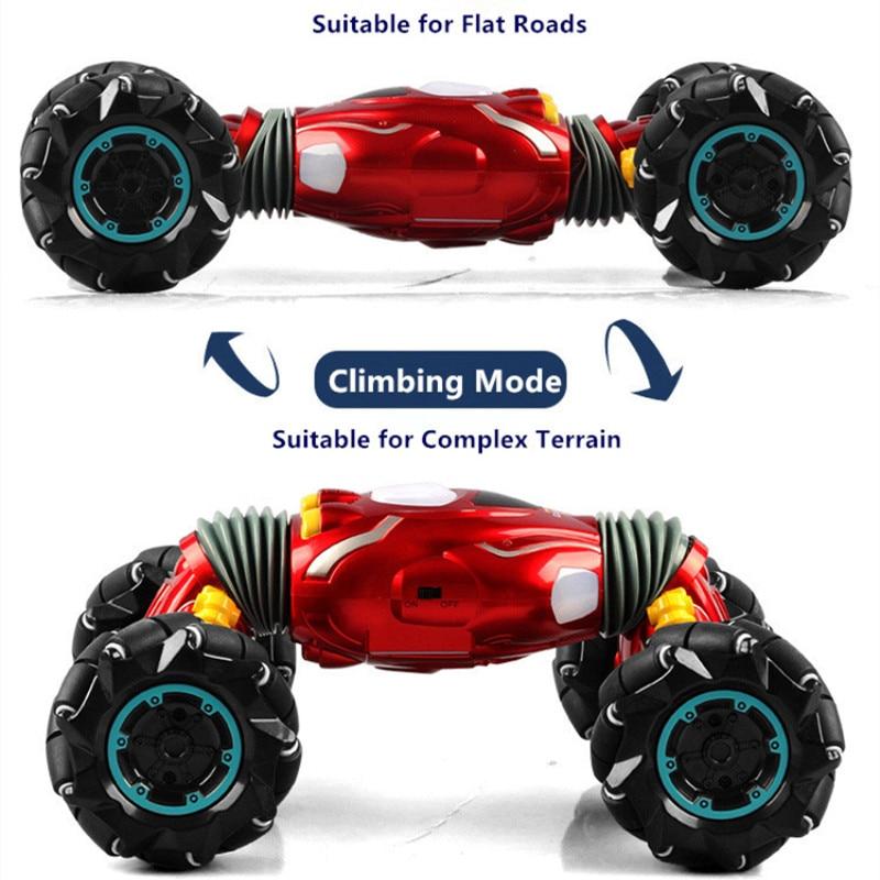 One Key Deformation Remote Control Stunt Car 45 degree Climbing off load Car RC Twist Car With Music Sound 2 Mode Transform Cars enlarge