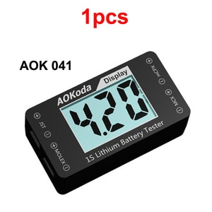 1pc AOKODA 041 1S Lithium Battery Voltage Detector High Voltage Lipo/Lipe/LiHv Tester w Power Display for RC Model Airplane Part