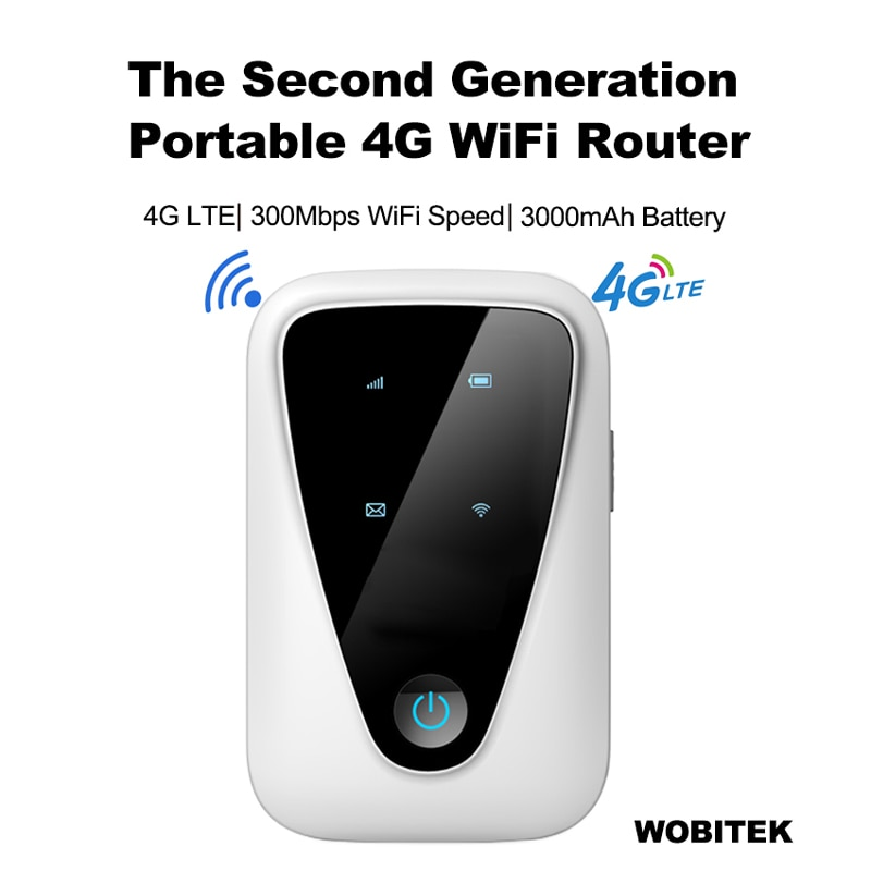 4G Router Unlocked Lte Wifi Mini Wireless Portable Pocket Modem Mobile CAT4 MiFis Hotspot For Car Wi-Fi With Sim Card Slot