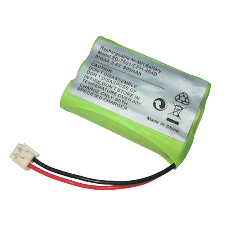 Batería de repuesto para teléfono doméstico inalámbrico Ni-MH 800mAh 3,6 V para Motorola SD-7501 v-tech 89-1323-00-00 AT & T Lucent 27910