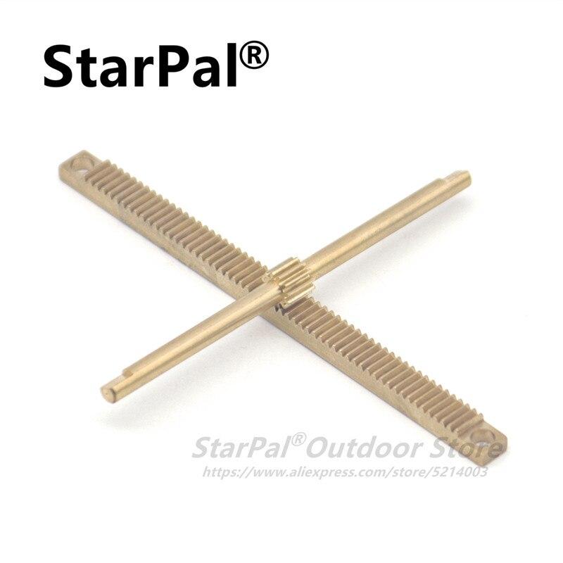 StarPal DIY telescope pacts 0.5M rack gear shaft gear axle rack for focuser made of brass full metal
