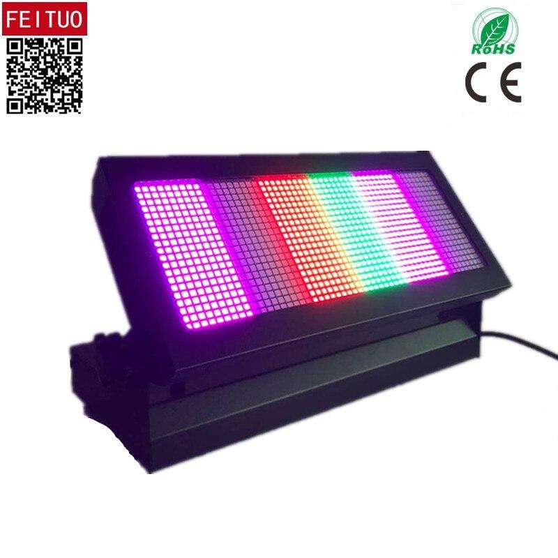 2pcs/lot China Stage Lightings Effect Strobe Light 1080x0.3w SMD RGB Wash DMX512 Strobe Stage Effect Light Dj Light Indoor Light