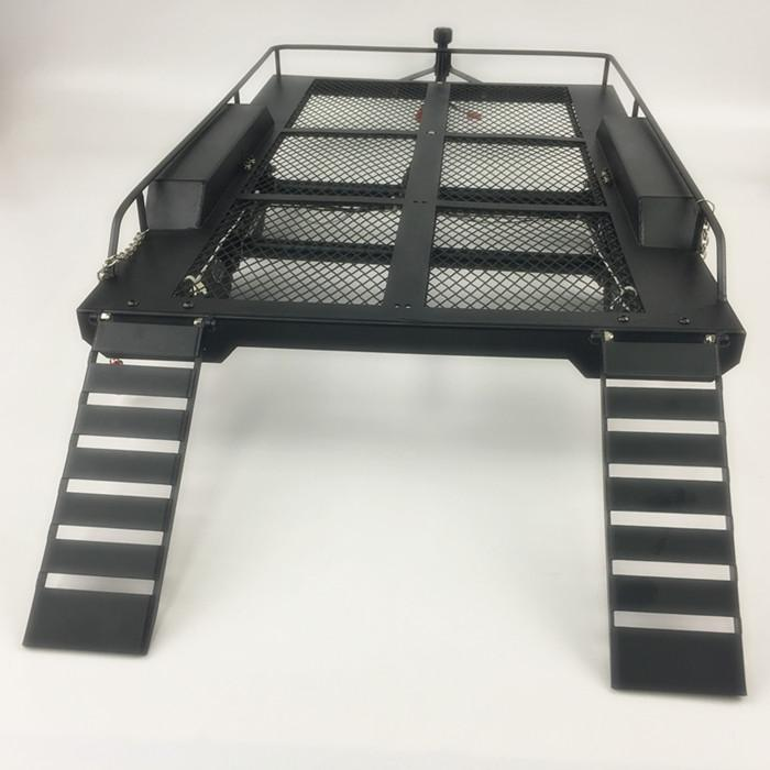 Bouble Axis Heavy Duty All Metal Trailer for 1/10 Rc Rock Crawler Truck Traxxas Trx4 Axial Scx10 90046 90047 Cc01 D90 TRX-6 G63 enlarge
