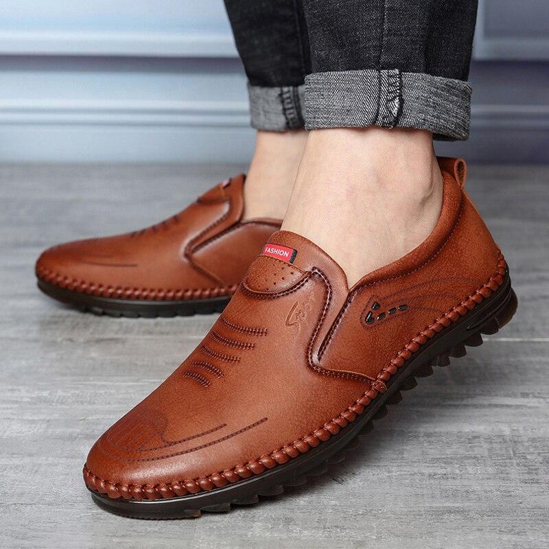 حذاء جلدي رجالي للربيع والصيف 2021, أحذية جلدية رجالية للربيع والصيف ، أحذية رياضية للرجال ، أحذية للعمل ، يسمح بالتهوية ، أحذية ناعمة مضادة لل...