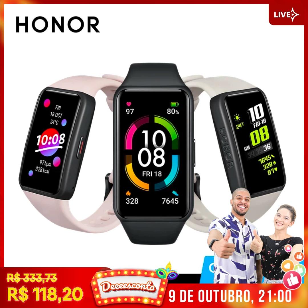 HONOR Band 6 Global Version SpO2 Heart Rate Monitor Watch Smartwatch Blood Oxygen Fitness Smart Bracelet Waterproof Wristbands