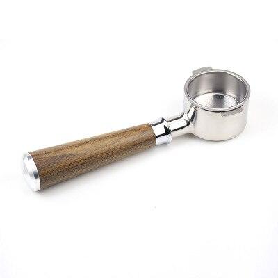 Espresso Bottomelss Portafilter 51mm dwa uszy 304 uchwyt filtra ze stali nierdzewnej parzenia kawy uchwyt do Delong ECO310