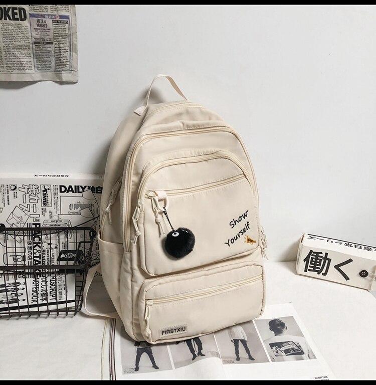 حقيبة ظهر صيفية للنساء خفيفة الوزن بتصميم 3796 حقيبة ظهر للنساء بلون سادة