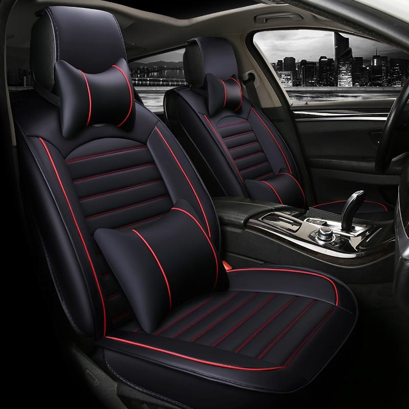 Fundas de asiento de coche fundas de asientos de coche accesorios de cojín de cuero para Changan Cs35 Cs75 Zotye T600 Mg 6 Mg3 Roewe 550 2009 2008 2007