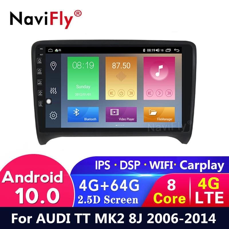 Android 10 4g 64g Car Dvd Radio For Audi Tt Mk2 8j 2006 2014 Gps Navigation Car Audio Multimedia Player Usb Wifi Canbus Ips Bt Car Multimedia Player Aliexpress