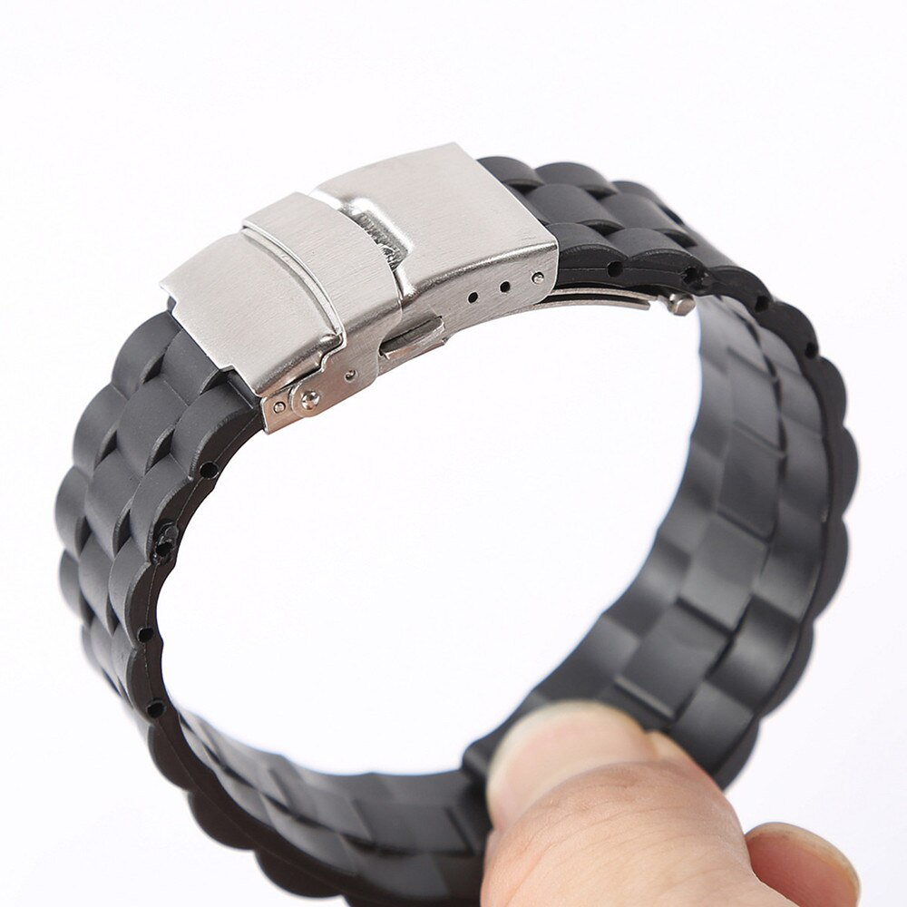 rubber watchband for tissot watch strap sports t touch t013420a t047 t33 bracelet man silicone bracelet 20mm 21mm orange black 4Styles Sports Watch Band 20mm 22mm Soft Silicone Rubber Strap Steel Buckle Bracelet Wrist WatchBand watch accessories