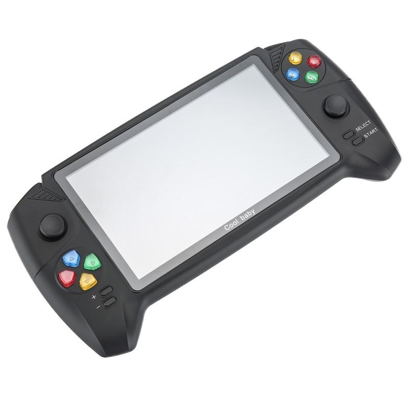 Pantalla grande de 7 pulgadas, consola de juegos de alta definición, joysticks balancín dobles, Mando de mano recargable, compatible con tarjeta de memoria