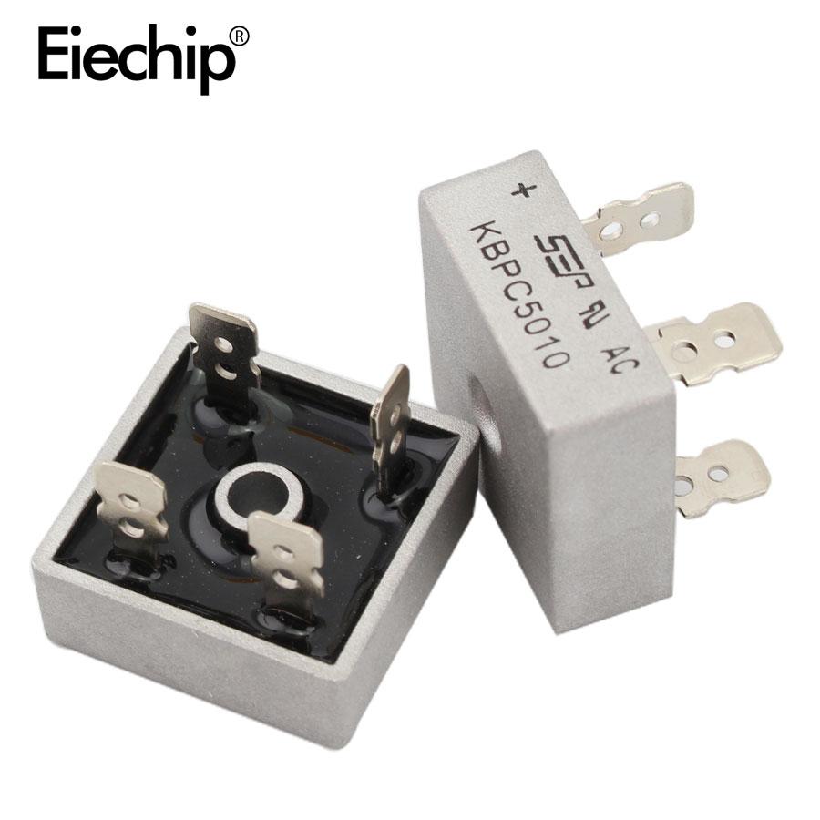 5 pçs/lote 50A KBPC5010 diodo ponte 1000V retificador de potência diodo KBPC retificador pontes 5010 componentes eletrônicos KBPC5010 diodo