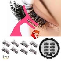 mb new 8pcs magnet mink lashes 100 magnetic eyelashes natural hair false eye lashes 3d fake lash fluffy faux cils magnetique