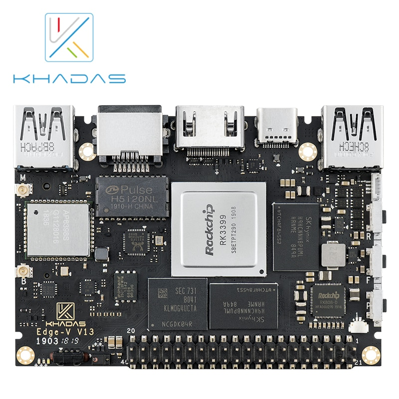 Khadas SBC Edge-V Max RK3399 With 4G DDR4 + 128GB EMMC5.1 Demo Board