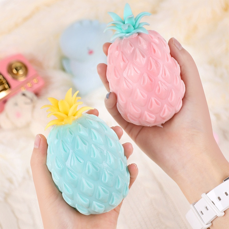 Fun Soft Pineapple Anti Stress Ball Stress Reliever Toy For Children Adult Fidget Squishy Antistress Creativity Cute Fruit Toys enlarge