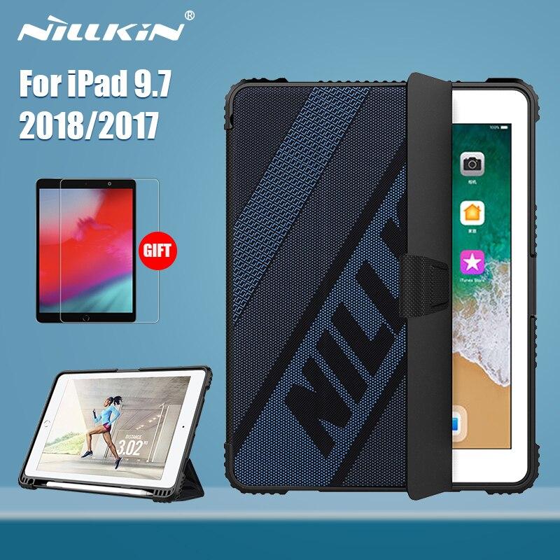Nillkin para ipad 9.7 caso 2018 pára-choques flip caso de couro do plutônio capa traseira para ipad 9.7 2017 capa protetora 9.7 polegadas