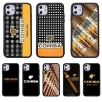 cohiba habanos cigar pattern phone case for samsung s8 s9 s10 s20 plus 5g lite note 20 ultra pc nax fundas cover