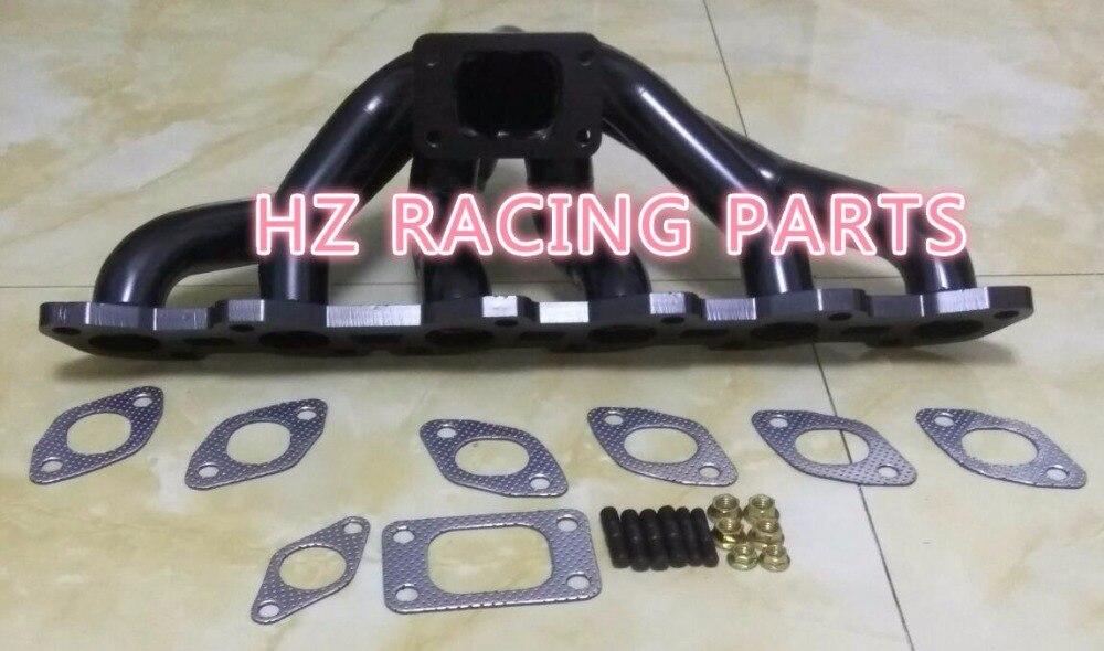 Colector de escape de montaje superior para Skyline RB20 RB20DET RB25 RB25DET R32 R33 R34 GTS-T, colector turbo, con juntas y pernos