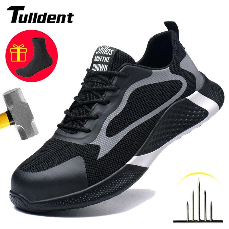 أحذية السلامة للرجال ، أحذية العمل ذات الأصابع الفولاذية غير القابلة للتدمير ، خفيفة الوزن وقابلة للتنفس