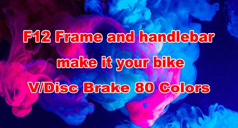 80 colores 1k F12 marco bicicleta V disco F12 Cuadro De Carbono bicicleta de carretera marco + manillar