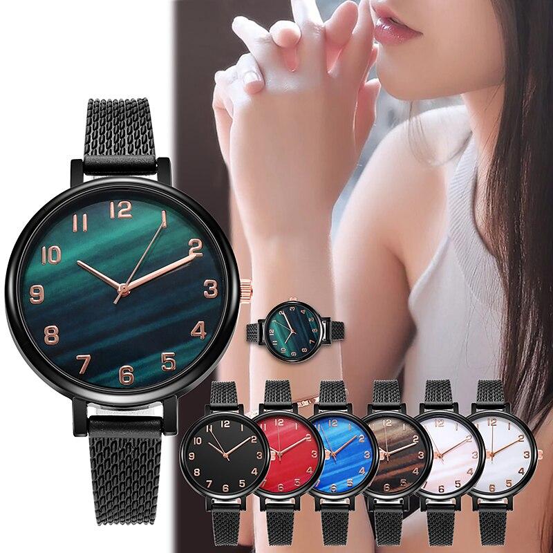 Luxury Wrist Watches for Women Fashion Quartz Watch Stainless Steel Band Dial Women Wathes Casual La